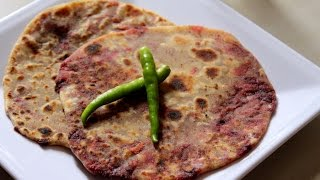 beetroot paratha-how to make beetroot paratha-beetroot roti-Paratha for Breakfast