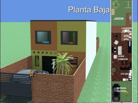 Plano 7x15 mts pb vda doovi for Casa moderna minimalista 6 00 m x 12 50 m 220 m2