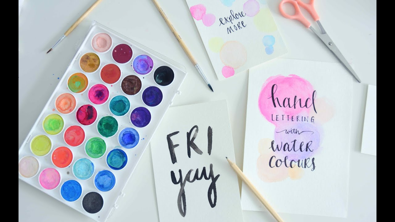 Hand Lettering Watercolour Paint Tutorial For Beginners