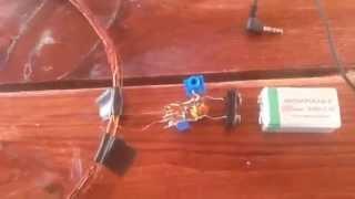 Металлоискатель бабочка однакатушечная(Собрал металлоискатель бабочку однакатушечную. Пришлось модернизировать, так как в