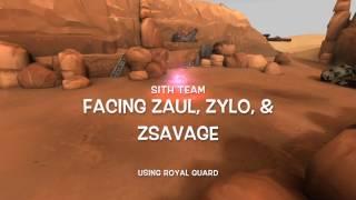 Facing Hybrid Sith Team meta using Royal Guard SWGOH