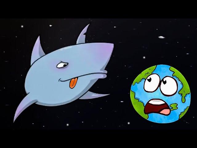 Гигантская АКУЛА съела планету Земля. ИГРА Tasty Blue #3 на Игрули TV