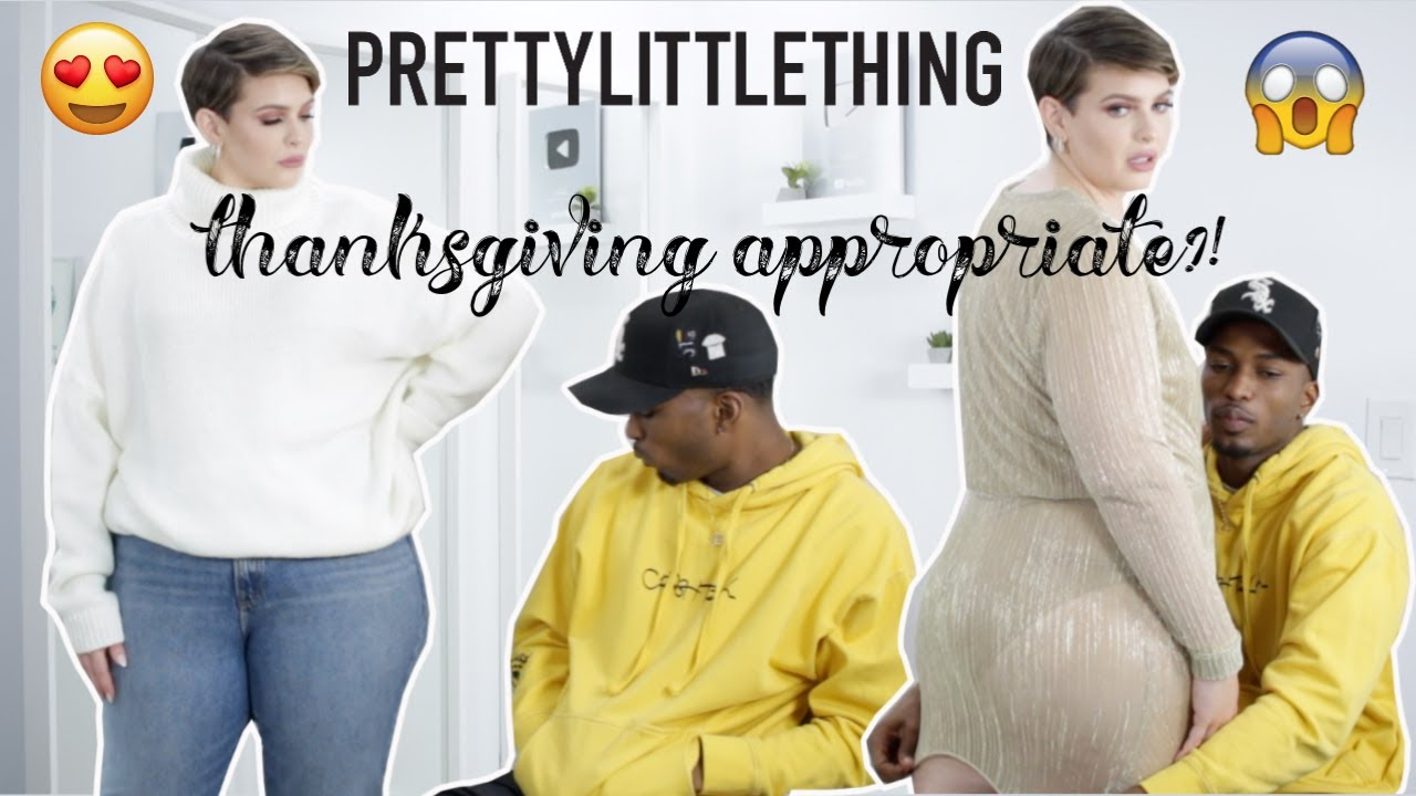 [VIDEO] - BOYFRIEND rates my THANKSGIVING outfits   Is it family appropriate?!  Pretty Little Thing  1