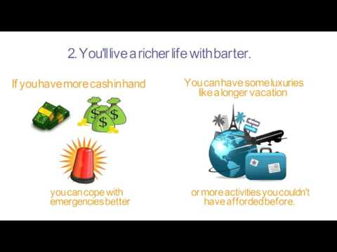 Stop Buying, Start Saving. Why not try Bartering!!!