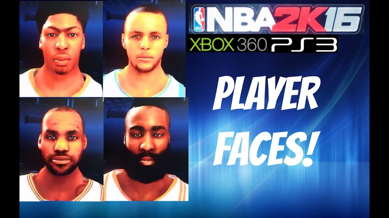 NBA 2K16 Xbox 360PS3 Player Faces Much Improvement YouTube