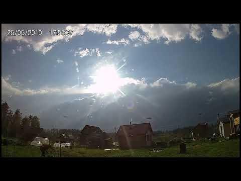 25 мая. Ливни и гроза на даче Time-lapse