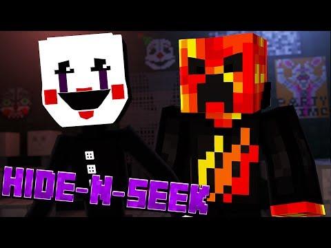 PRESTON HATES PUPPET MASTER! Minecraft FNAF Sister Location HIDE N SEEK