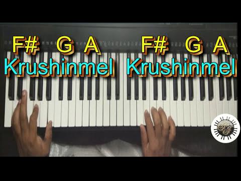 Krushinmel Krushinmel Kanunna Tharitha, Malayalam Christian Song In Keyboard