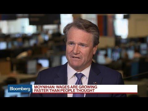 BofA's Moynihan Says Business 'Solid,' Loan Demand 'OK'