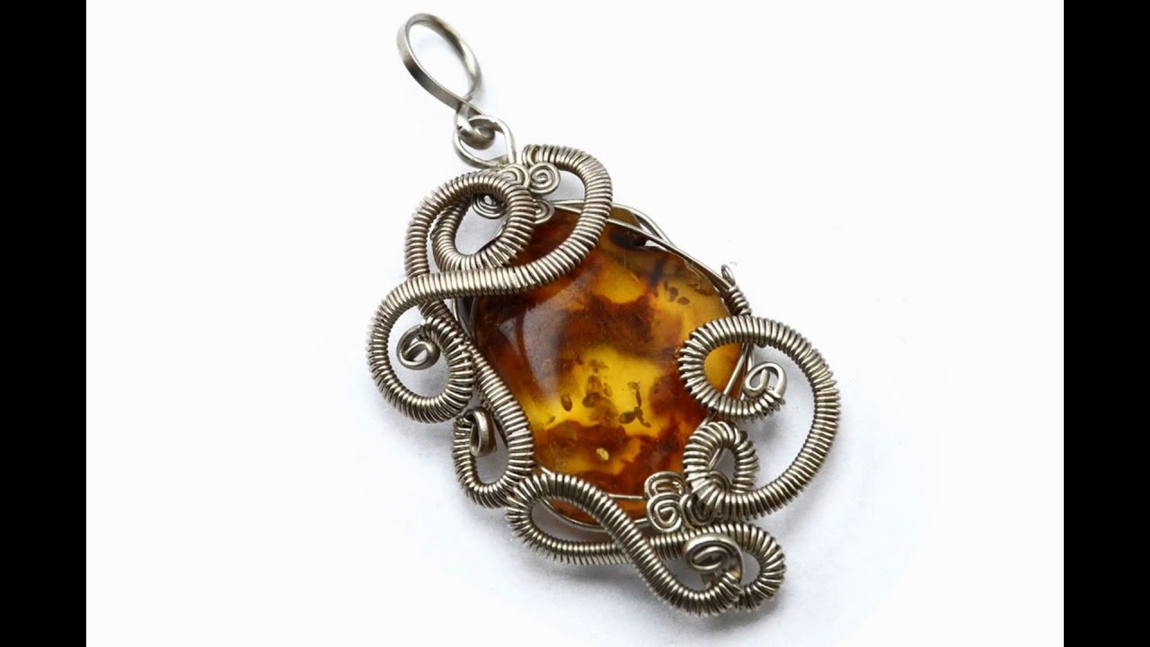 Wire Wrapped Crystal Jewelry Pendents - YouTube