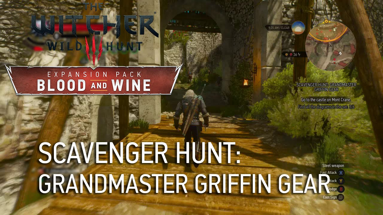 Scavenger Hunt: Grandmaster Griffin Gear - The Witcher 3 Wiki Guide