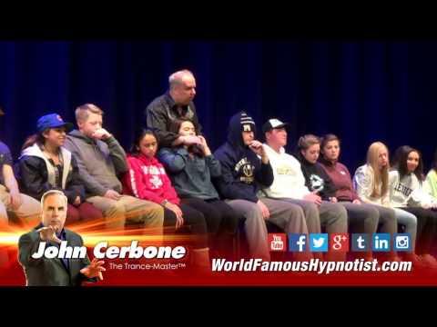 High School Fund-Raiser - Hypnosis Show Highlights - World Famous Hypnotist John Cerbone