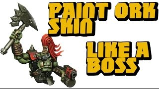 tutorial realistic ork skin for warhammer 40k