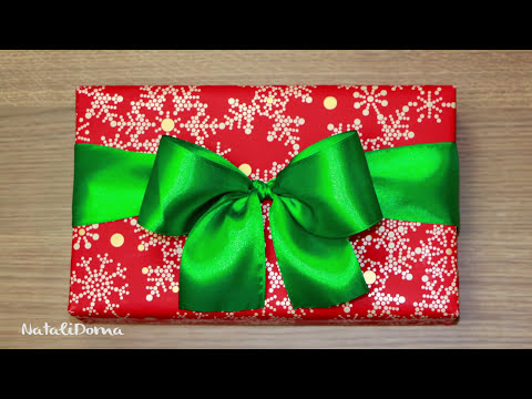 Как сделать ПОДАРОЧНЫЙ БАНТ / DIY Easy Gift Ribbon Bow ✿ NataliDoma