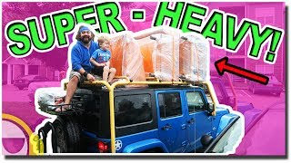 Today we loaded our Jeep Wrangler Unlimited to the MAX with our cou...