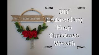 DIY EMBROIDERY HOOP CHRISTMAS WREATH, EASY AND CHEAP!