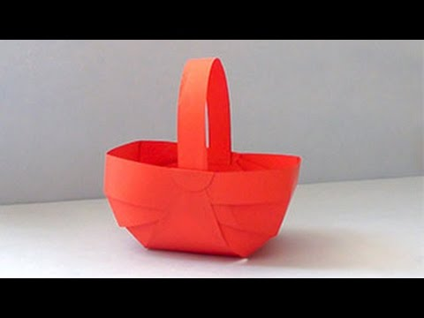 How To Make Paper Basket Diy Paper Crafts Video Tutorial For Kids