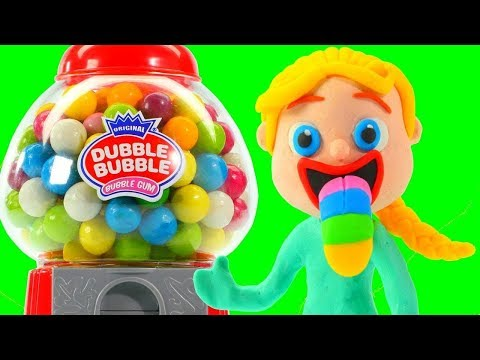 SUPERHERO BABIES PLAY WITH A GUMBALL MACHINE ❤ Spiderman, Hulk & Frozen Play Doh Cartoons For Kids