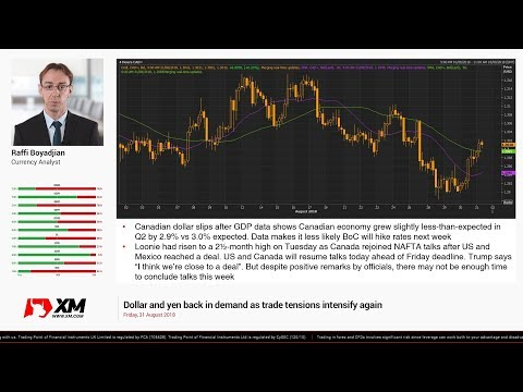 Forex News: 31/08/2018 - Dollar and yen back in demand as trade tensions intensify again