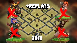 Th-9 Strong 2018 War Base! +REPLAYS! (Anti-Witch-Sla, Anti Hog, Anti LavaLoon, Anti Valkyrie, Anti )