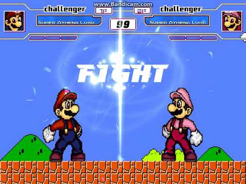 MUGEN New Athena & May Sound on Super Luigi edit + a battle