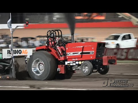 Limited Pro Stock tractors pulling at the Lucas Oil Speedway 2018