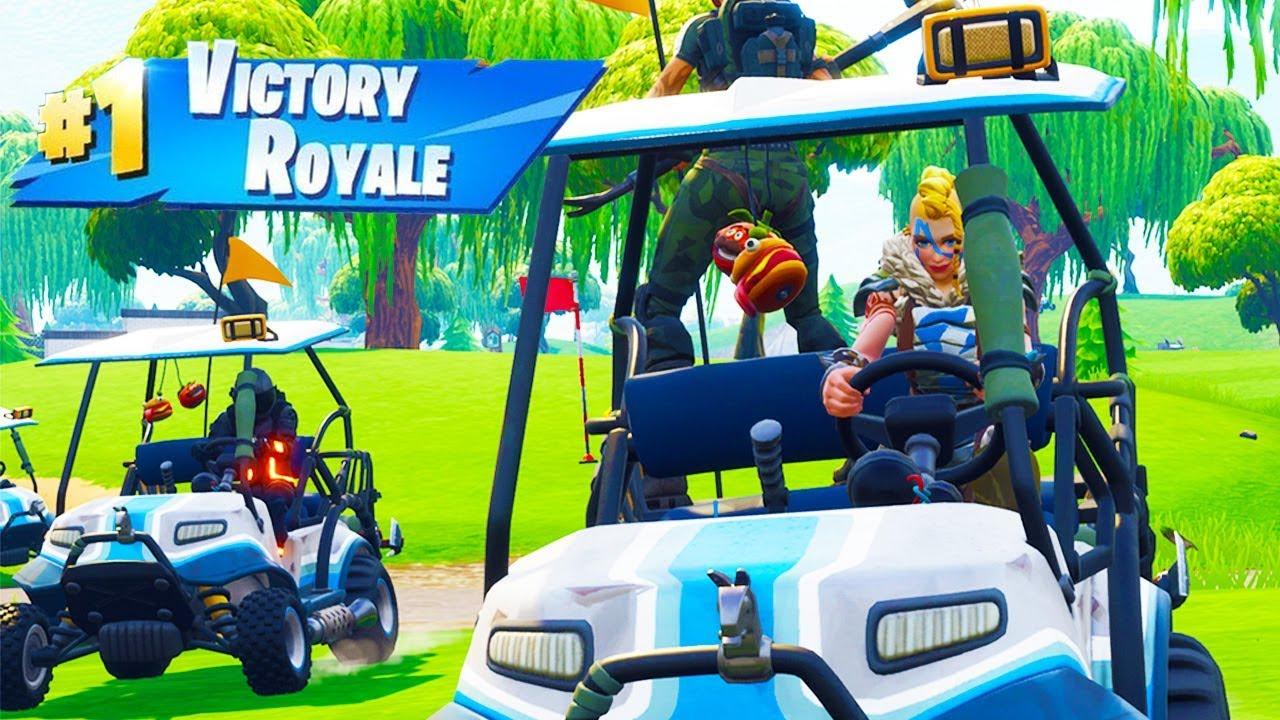 golf cart race in fortnite battle royale - voiturette de golf fortnite