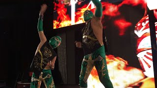 Sin Cara makes his entrance with his son and visits an Eddie Guerrero mural