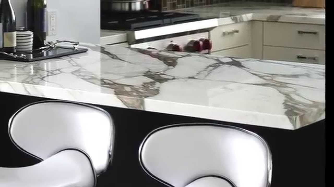 marble tile countertop. Design Your Kitchen With Calacatta Gold Marble Tile And Countertop E