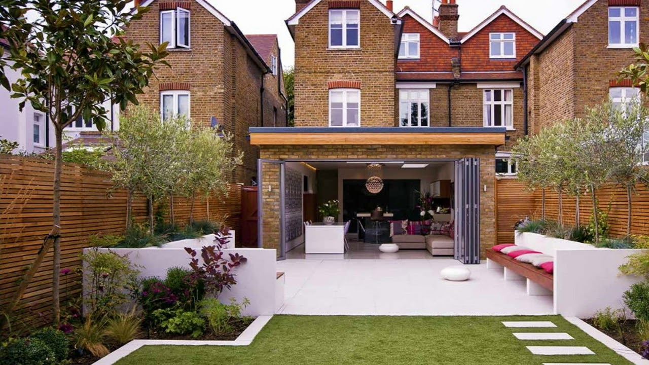 Garden Design Victorian Terrace Courtyard - YouTube