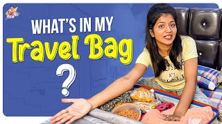 What's In My Travel Bag ? || My luggage Bag || Shiva Jyothi || Jyothakka
