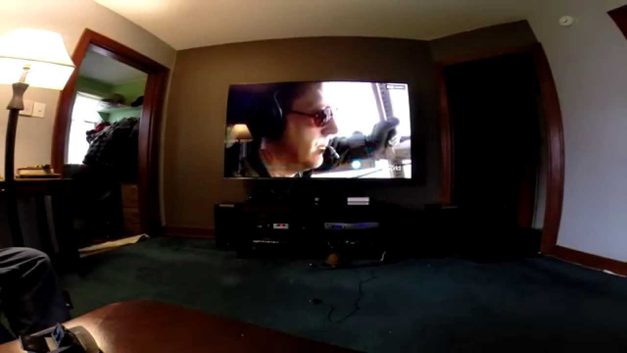 Samsung h7150 series 75 led tv unboxing mount youtube for Living room with 65 inch tv