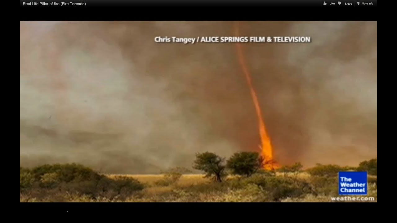 Real Life Pillar of fire (Fire Tornado) - YouTube