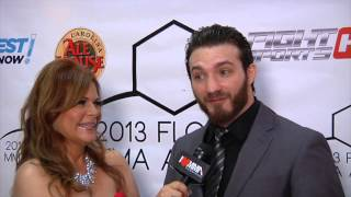 Flashback Friday Susan Cingari speaks w UFC fighter Mike Rio at  MMA Awards 2013