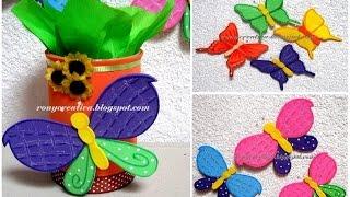 Cómo hacer mariposas de foamy o goma eva - Ronycreativa