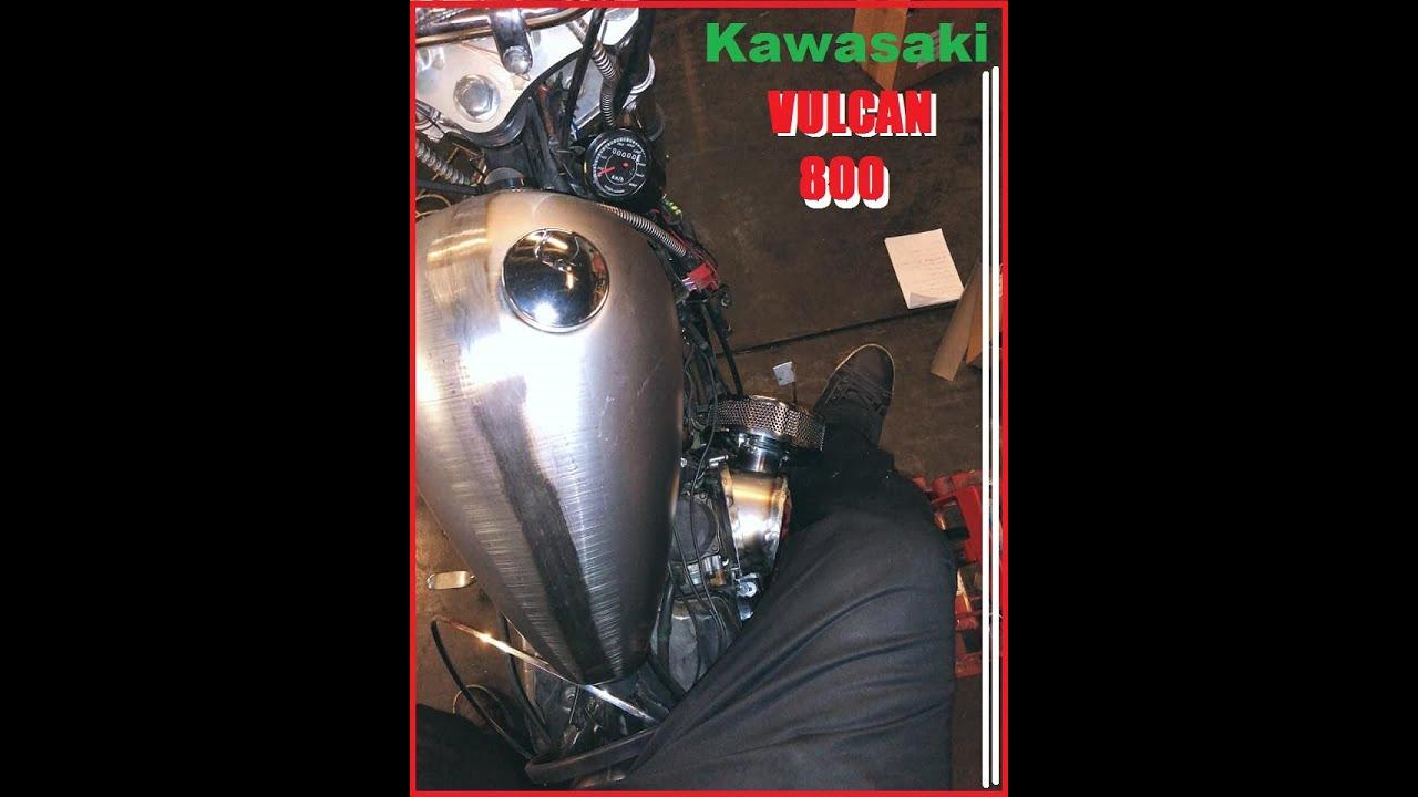 Kawasaki VN 800 DIY custom air intake