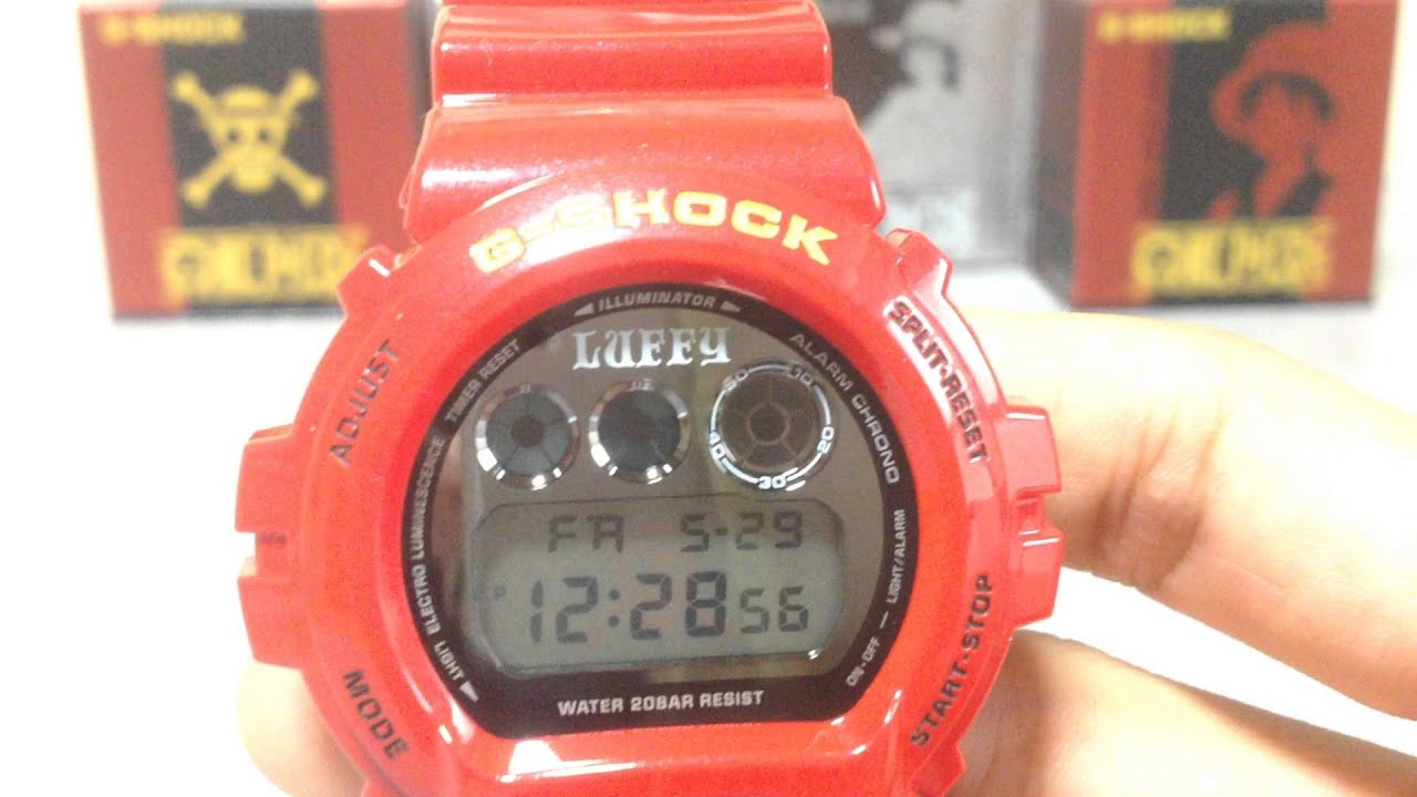G Shock DW 6900FS Monkey D Luffy One Piece collaboration (unboxing)