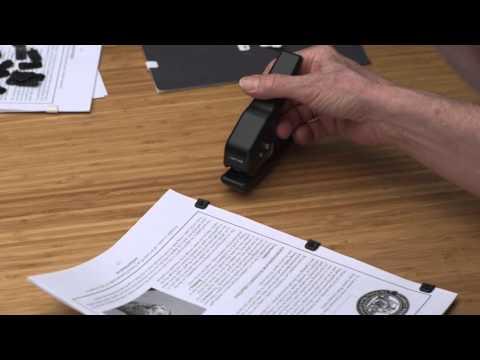 Secure Paper Fastener (silent video)
