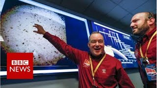 Mars Insight: The Moment Of Touchdown   Bbc News