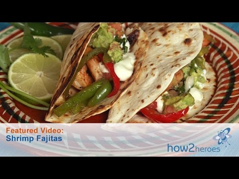 Making Mexican Shrimp Fajitas