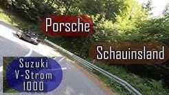 Schauinsland Motorrad V-Strom 1000 mit Porsche 981 Schwarzwald