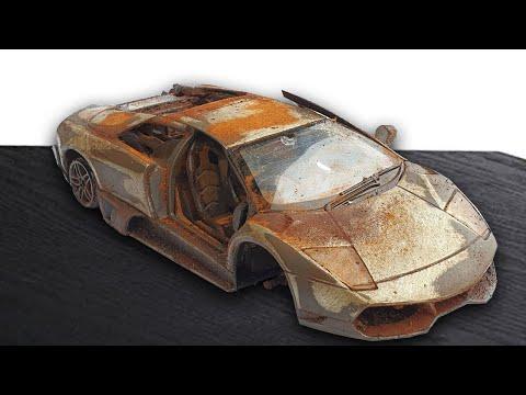 Restoration Abandoned Lamborghini – Old SuperCar Murcielago Model Car Restoration