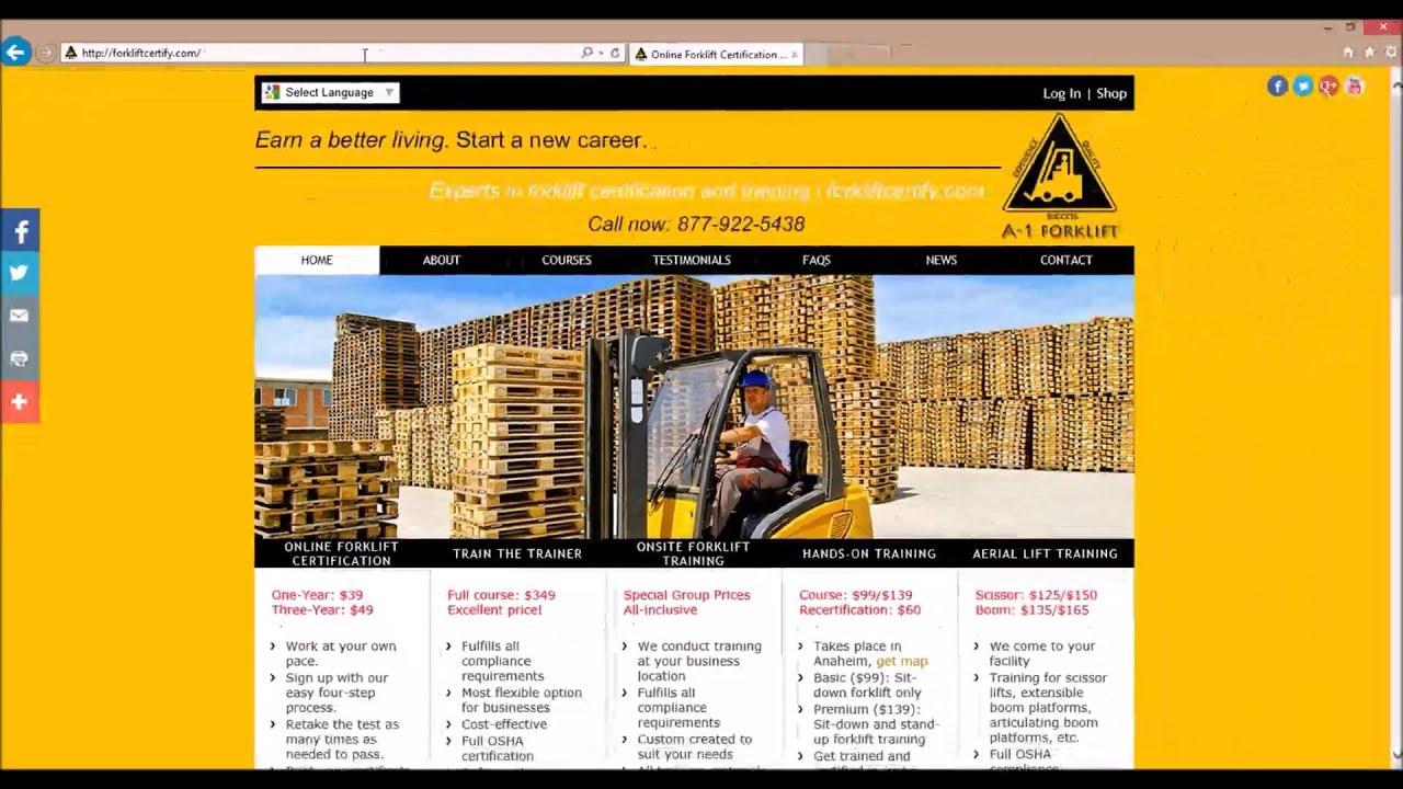 Forklift Certification Online 4 Easy Steps Youtube