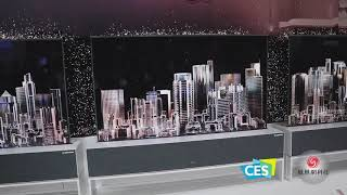 LG展区体验:震撼天幕还有可曲卷OLED电视   CES2019