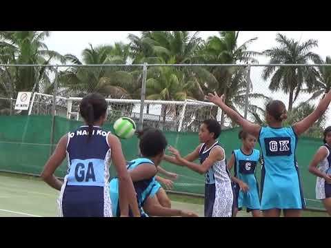 2015 Under 13 Fiji Primary School Netball.. Suva 1 (skyblue) vs Nadi 2 (Dark blue)-1ST HALF