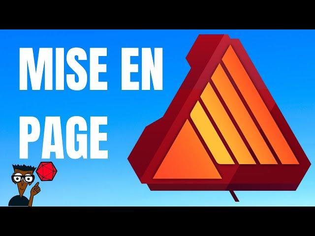 Mettre en page son jeu avec Affinity Publisher