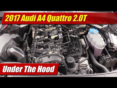 Under The Hood: 2017 Audi A4 2.0T Quattro - YouTubeYouTube