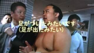 平成29年の大相撲春場所 蒼国来関と豪風関との対戦でした 土俵際で蒼...