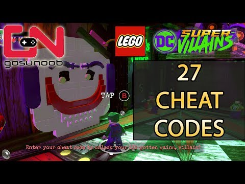 Lego DC Super-Villains Cheat Codes - Unlock All 27 Characters & Showcase