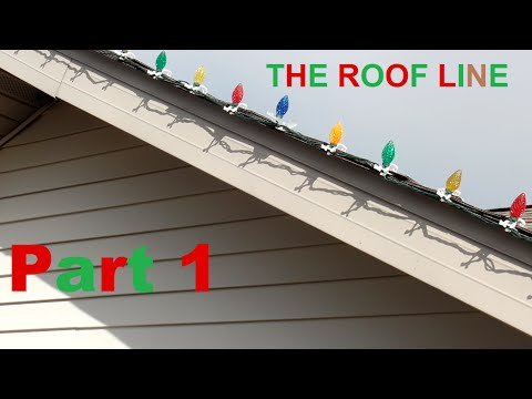 putting up christmas lights part 1 roof line